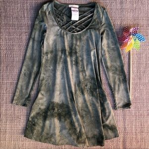 NWT Entro tie dye tunic dress with strap details